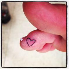 #tattoo #heart #toe it honestly didn't hurt at all, I love it!!