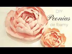 Flores grandes de foamy | Manualidades