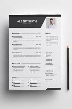 Albert Smith Resume Template ---CLICK IMAGE FOR MORE--- resume how to write a resume resume tips resume examples for student Simple Resume Template, Resume Design Template, Creative Resume Templates, Cv Template, Templates Free, Job Resume, Resume Tips, Student Resume, Resume Skills
