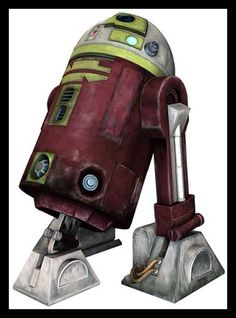 """R7-A7 (""""Arseven""""), is Ahsoka Tano's green, red, and white Astromech co-pilot aboard her Delta-7B starfighter during the Clone Wars. R7 was one of a group of advanced Jedi-owned droids whose prototype logic modules were designed to test new programs."""