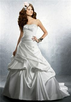 Satin. Available with Lace-up Back as 2245C - Alfred Angelo