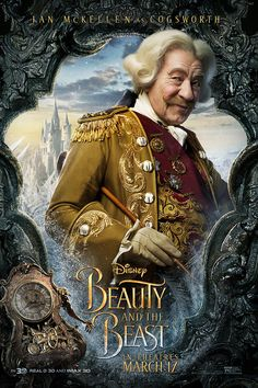 Cogsworth from live action Beauty and the Beast Disney movie. Cogsworth the clock. Beauty Beast 2017, Beauty And The Beast Movie, Series Poster, New Poster, Dan Stevens, Live Action, Walt Disney, Disney Live, Disney Fun