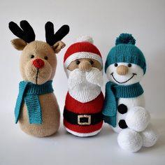 Christmas Skittles Knitting pattern by Amanda Berry Amanda Berry - Patterns Sock Crafts, Sock Snowman Craft, Christmas Craft Projects, Navidad Diy, Paintbox Yarn, Goodie Bags, Double Knitting, Knitting Yarn, Knitting Needles