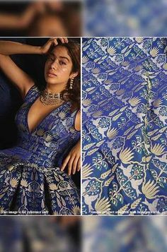 Details From our exclusive collection, we are offering you the Blue Pure Katan Silk Sona...