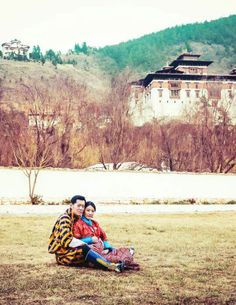 New photo released as part of the calendars released by the Bhutanese government of the King and Queen at Paro Ugyen Pelri Palace. The King and Queen are expecting a son in the year.