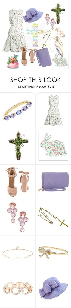 """Easter Sunday Sunrise Services"" by lilloca5150 ❤ liked on Polyvore featuring Lord & Taylor, Giambattista Valli, Grandin Road, Aquazzura, Dasein, Rina Limor, Loren Stewart, Bony Levy, EF Collection and F&M Hats"