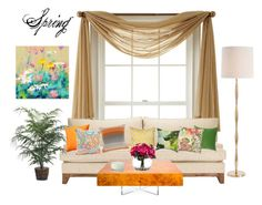"""Spring_style"" by taranamammadova ❤ liked on Polyvore featuring interior, interiors, interior design, home, home decor, interior decorating, Royal Velvet, Auburn Textile, Pillow Decor and Vivaraise"
