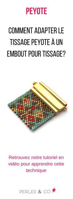Comment adapter le tissage Peyote à un embout pour tissage?, quick video showing how easy it is to use this wonderful hardware to finish up a peyote or woven bracelet ~ Seed Bead Tutorials. Seed Bead Tutorials, Beading Tutorials, Beading Ideas, Peyote Patterns, Beading Patterns, Seed Bead Jewelry, Beaded Jewelry, Beading Techniques, Peyote Beading