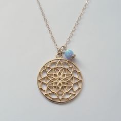 Charm Necklaces – Gold mandala pendant, 14K Gold Filled necklace – a unique product by TinTin-Prinkel on DaWanda