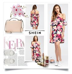 """Shein Contest (Random Florals Tie Detalis Dress)"" by beerrks ❤ liked on Polyvore featuring Santoni, Côte Noire, Mark Cross, contest, shein and RandomFloralsTieDetailsDress"