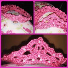 Crochet Crown/ Baby Crown  Corona En Crochet/ Corona De Bebe #pink