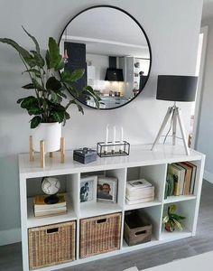Home Living Room, Living Room Designs, Living Room Decor, Modern Room Decor, Small Apartment Living, Living Room Storage, Small Living Rooms, Room Ideas Bedroom, Bedroom Decor