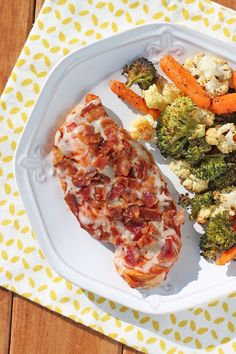 This Cheesy Bacon BBQ Chicken is a fast, easy and delicious weeknight meal that is packed with flavor for just 271 calories or 7 Weight Watchers points! www.emilybites.com #healthy
