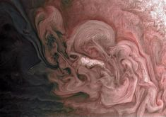 This image captures a close-up view of a storm with bright cloud tops in the northern hemisphere of Jupiter. NASA's Juno spacecraft took this color-enhanced image on February 7 at a. EST) during its close flyby of the gas giant planet. Nasa Pictures, Nasa Photos, Nasa Images, Space Photos, Space Images, Hubble Space Telescope, Space And Astronomy, Sistema Solar, Jupiter Storm