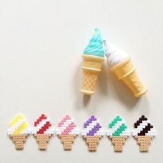 Ice cream cones hama beads by vans_rosecitron