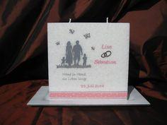 Hochzeitskerze Family #Hochzeitskerze #Familie Candles, Weddings, Funny Gifts For Men, Wedding Ideas, Diy, Wedding, Candy, Candle Sticks, Marriage
