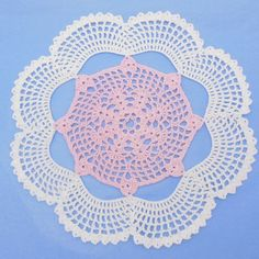 $1.99 - Dresden Doily - This doily is named after a town in Maine but it also is reminiscent of the dresden plate in quilting! It is fairly ...