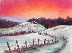 soft pastels,winter,schneelandschaft