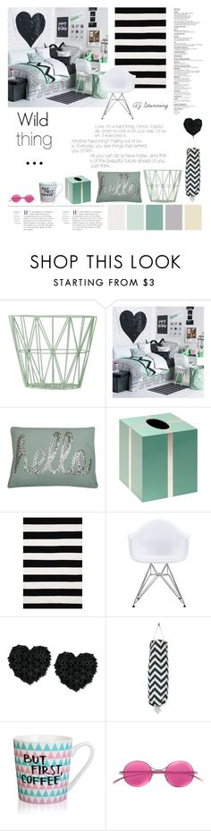 """""""Wild Thing"""" by forever-fleek ❤ liked on Polyvore featuring interior, interiors, interior design, home, home decor, interior decorating, ferm LIVING, Young & Reckless, Thro and Bungalow 5"""