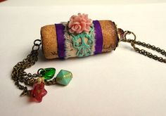 Wine Cork Pendant Wine Cork Necklace Upcycled by ATouchofRomance