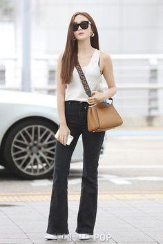 Snsd Airport Fashion, Snsd Fashion, Korean Girl Fashion, Asian Fashion, Fashion Outfits, Womens Fashion, Basic Outfits, Kpop Outfits, Cute Casual Outfits