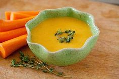 Plate of the day: #Carrot and #ginger #velouté #soup.  Could you think of anything better to warm you up?