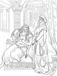 Samson And Delilah Coloring Page From Gustave Dore Category Select 25519 Printable Crafts Of