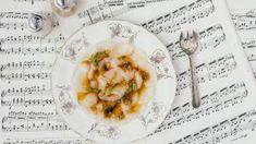 Carpaccio van Sint-Jakobsvruchten met balsamico en basilicum