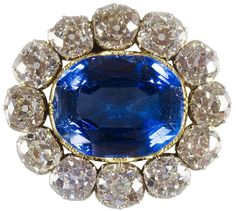 For Victoria's wedding gift, Albert gave her a magnificent sapphire brooch surrounded by diamonds.