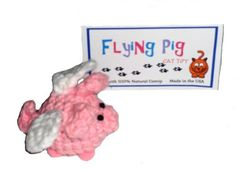 Hand Crocheted Flying Pig Natural Catnip Cat Toy-USA Made *** You can get more details by clicking on the image. (This is an affiliate link and I receive a commission for the sales)