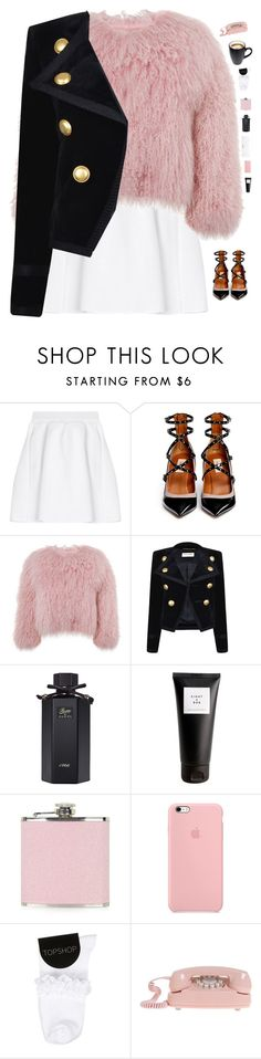 """Feeling fancy "" by genesis129 on Polyvore featuring Conair, malo, Valentino, Charlotte Simone, Yves Saint Laurent, Gucci, Eight & Bob, Topshop and vintage"