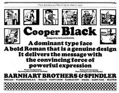 Oswald Bruce Cooper, 1921