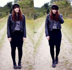 Therese Buch-Andersen - H&M Leather Jacket, Topshop Jumper, Dr. Martens Boots, Gina Tricot Pencil Skirt, Homemade - CASUAL