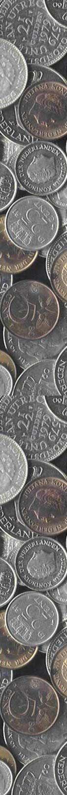 Rijksdaalders, guldens, kwartjes, dubbeltjes, stuivers en centen.