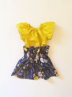 High Waisted Toddler Skirt in Fall Florals and by dandylionco, $43.50