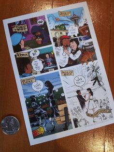 Awesome Comic Book Wedding Invitation and Postcard RSVP ...
