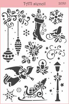 Трафарет гибкий TATI stencil 2050. цена: 50.00 грн. А5, 20 х 15 см. Трафареты TATI stencil Hobby & Decor - товары для рукоделия