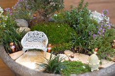 What Makes a Lush Little Landscape Different?   Lush Little Landscapes « How to Make Miniature Fairy Gardens for Centerpieces, Gifts