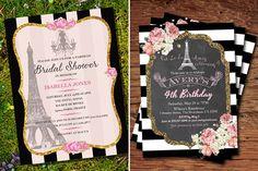 Ideias de convites para festa de 15 anos com tema Paris - Constance Zahn