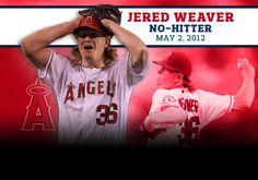 Jered Weaver no-hitter!