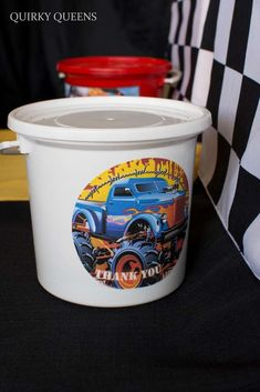 Favors at a monster truck party birthday party! See more party ideas at CatchMyParty.com!