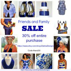 Check out our friends and family sale @HTTP://www.etsy.com/shop/ZabbaDesigns Code:family30  Share with your family and friends  #zabbadesigns, #sale #OOTD #ankaraprint #african