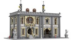 The Old Police Station - Trend Photography Lego 2019 Legos, Lego Moc, Lego Hacks, Casa Lego, Lego Police, Police Cars, City Layout, Lego Modular, Fantasy