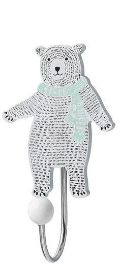 <p>Wat een snoesje, dit haakje beer van Bloomingville mini. In wit en mint met zwarte accenten. Makkelijk en mooi op de baby- of kinderkamer.</p> <p>De beer is van hout, het haakje van ijzer. Het haakje is 11 cm hoog, 6 cm breed en 4.4 cm diep.<br />Aan de achterkant zit een ophangplaatje waarmee je het haakje makkelijk aan een schroef hangt. <br /><br /><br /></p>