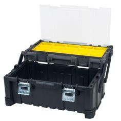 Stalwart in. Parts and Crafts Tiered Storage Tool Box, Black Stalwart in. Parts and Crafts Tiered Storage Tool Box, Black Storage Box On Wheels, Tool Storage, Mobile Tool Box, Dewalt Tough System, Dewalt Tools, Tiered Tops, Tools And Equipment, Diy For Kids, Cleaning Wipes
