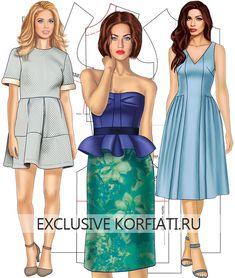 Самые точные и простые выкройки платьев на любой вкус. Модные, стильные, эффектные! Красивое платье обязательно должно быть в вашем гардеробе!