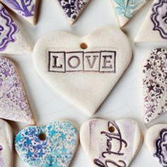 corazones de galletas o de masa de sal