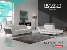 Este sofá posee un diseño actual y elegante, además de una gran variedad de colores para que encuentre el que mejor encaja con su estilo y decoración. Además, sus reposacabezas son ajustables para una mayor comodidad.
