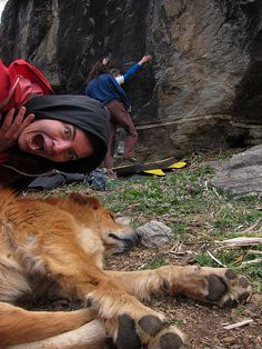 awesome crag dog photo, from our #fiveten dog days contest, 2011 #RockCreek