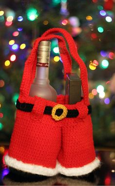 Crochet Santa Pants Gift Bag Pattern
